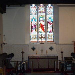 West Clandon church chancel