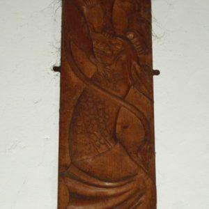 The Clandon Legend carving