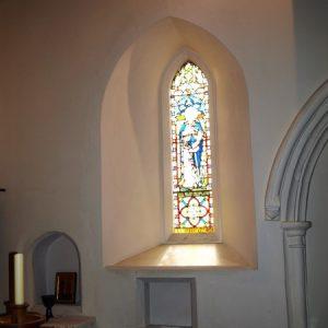 A splayed lancet window