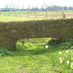 Opening in the churchyard wall