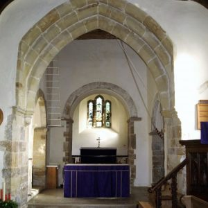 The chancel from the nave viewed through the crossing