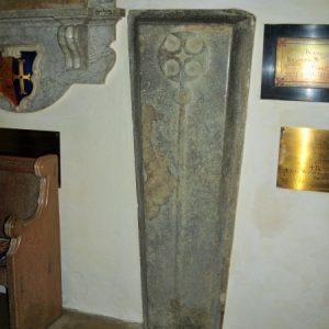Stone coffin lid