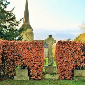 The MacMillan family area in the churchyard