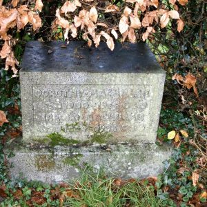 MacMillan memorial stone