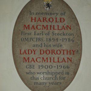 MacMillan memorial plaque