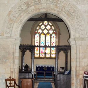 The chancel seen through the east crossing arch
