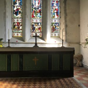 The altar and east window