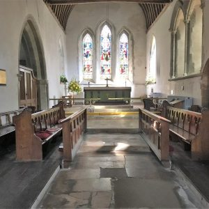 The 55ft long chancel