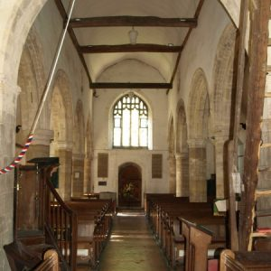The nave looking west
