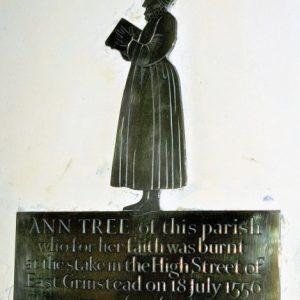 Ann Tree brass plaque