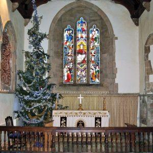 The chancel at Christmas