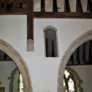 The rood loft staircase opening