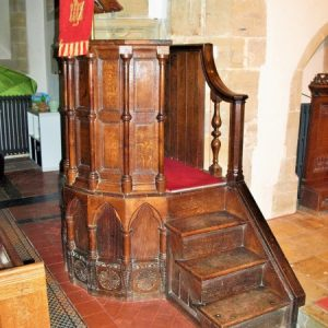 Re-worked 17th century pulpit