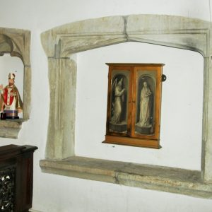 The chancel south wall