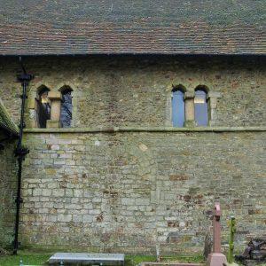 Two double Saxon windows