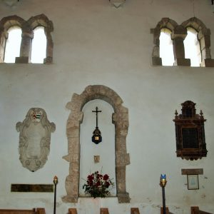 The Saxon windows from inside