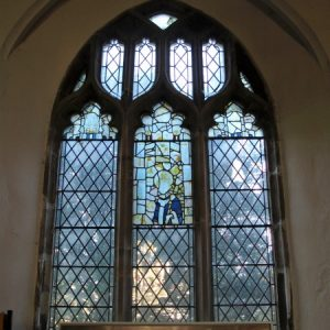 15th century glass in north aisle window