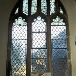 Medieval glass in north aisle window