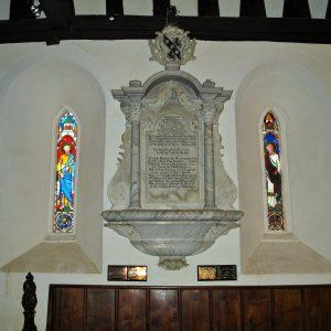 Robert Cowper wall monument