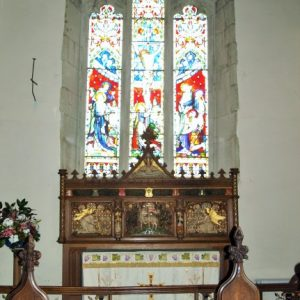 The altar and reredos