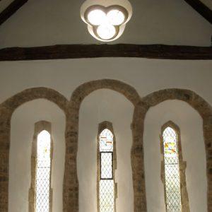 South transept windows from inside