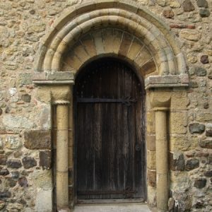 The west doorway