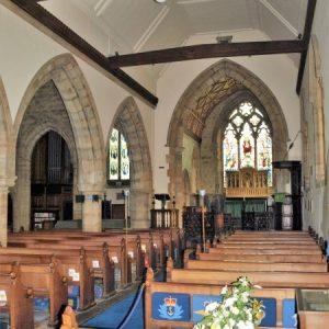 North arcade and chancel arch