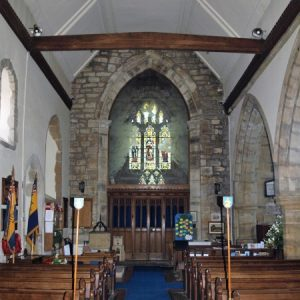 The nave and tower arch