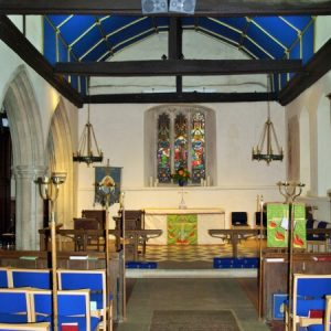 The chancel from the nave