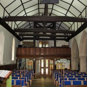 The nave looking towards the west entrance