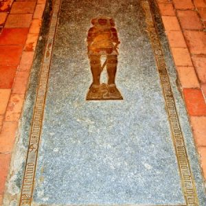 Audley floor brass