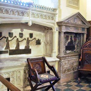 Covert memorials in the chancel