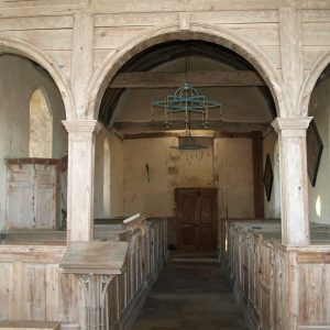 Pine chancel screen