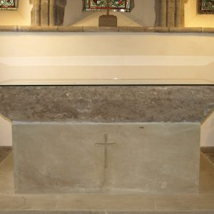 The stone altar table
