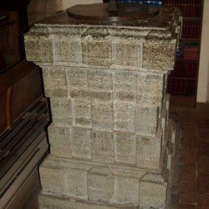 17th century marble font
