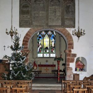 The Norman chancel arch