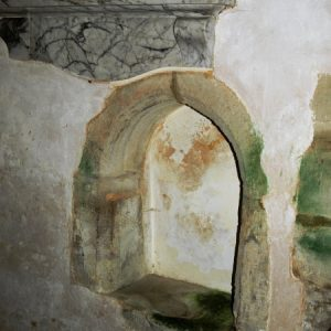 Piscina in chancel south wall