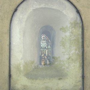 Saxon window in chancel from outside