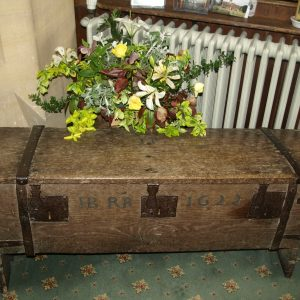 Oak chest dated 1622