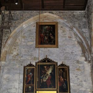 Paintings on the west wall