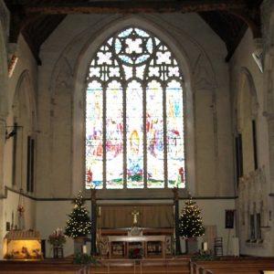 The sanctuary east window
