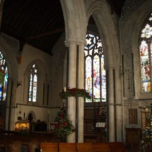 View from south aisle to the chancel