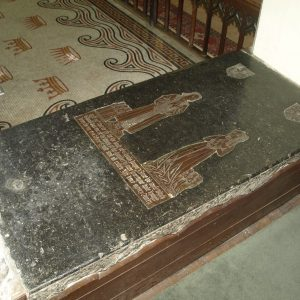 A brass in the Easter sepulchre