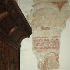 Mural on north arcade return