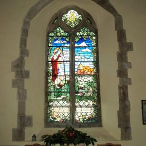 The south aisle west window