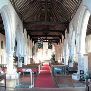 The long nave and arcades