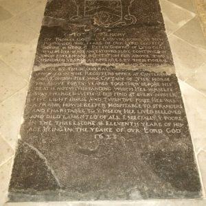 Coffin slab in chancel