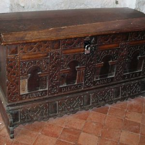 18th century carved chest