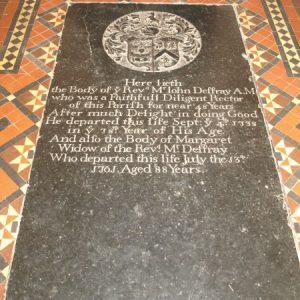 Floor slab in chancel