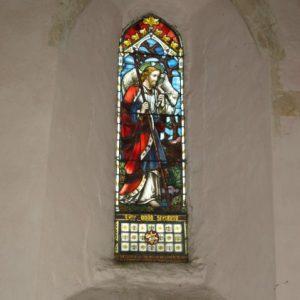 Lancet window in north chapel